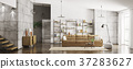 Interior of modern apartment panorama 3d rendering 37283627