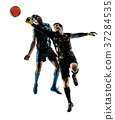 soccer players goalkeeper men isolated silhouette 37284535