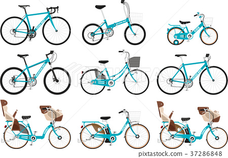 Set of various types of bicycles 37286848