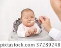 婴儿食品 馈送 使吃 37289248