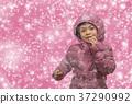 소녀, 눈, 여자 37290992
