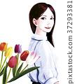 鮮花和婦女 37293381