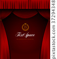 Stage red curtain curtain background illustration material (vertical) 37294348