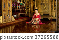 Thailand The beautiful woman wearing Thai ancient 37295588