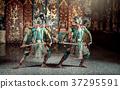 Thailand. Khon performance art of Ramayana story 37295591