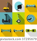 Segway icon set, flat style 37295679
