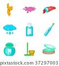 House personal hygiene icon set, cartoon style 37297003