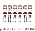 A large group of anime (manga) girls of 37301460
