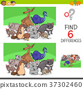 find differences with funny animal characters 37302460