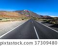 Desert Lonely Road Landscape in Volcan  37309480