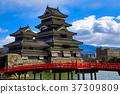 ปราสาทมัทซึโมโตะ,ท้องฟ้าเป็นสีฟ้า,ปราสาท 37309809