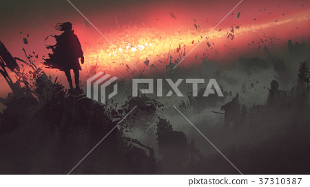 apocalyptic explosion on the earth 37310387