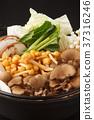 mushroom hotpot, pot, vegetables 37316246