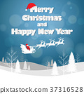 Design Christmas greeting card and Happy new year  37316528