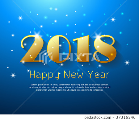 Design happy new year 2018 greeting card stock illustration design happy new year 2018 greeting card m4hsunfo