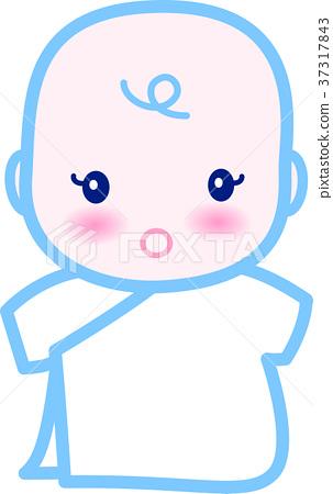 아기 귀여운 블루 0 세아 37317843