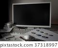 잔업 비즈니스 직장 어두운 직장 문제 밤 37318997