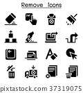Remove, Erase, Delete icon set 37319075