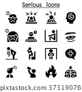 Serious icon set 37319076