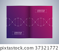 Bi-fold brochure design with DNA molecule 37321772