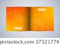 Bi fold square brochure template layout, cover 37321776