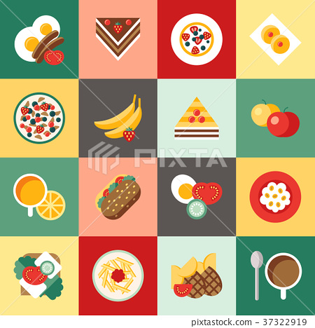Digital vector breakfast meal fresh food and drink 37322919