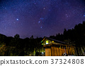 ท้องฟ้าเต็มไปด้วยดวงดาวและทิวทัศน์ธรรมชาติของท้องฟ้าเต็มดวง 37324808