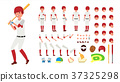 Baseball Player Vector. Animated Character 37325298