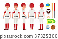 Classic Baseball Player Vector. Classic Uniform 37325300