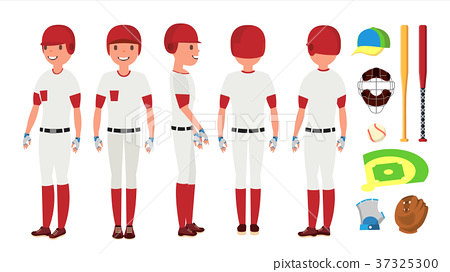 Classic Baseball Player Vector. Classic Uniform 37325300