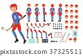 vector, hockey, man 37325511