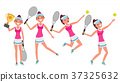 Tennis Player Vector. Young And Healthy. Players 37325632