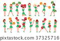 High-School Profession Cheerleading Teams Vector 37325716