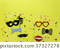 Table top view carnival mask or photo booth props 37327278