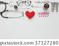 Table top view of accessories healthcare & medical 37327280