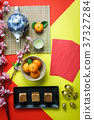 Top view decoration Chinese new year & lunar 37327284