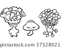 붓 그림 캐릭터 버섯 트리오 37328021