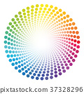 spiral dots pattern 37328296