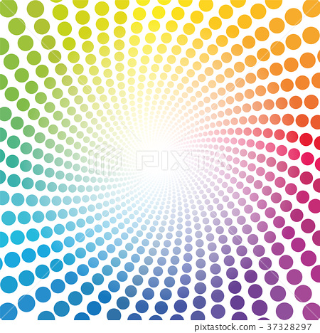 Spirale Pattern Rainbow Colored Tube Dots Infinity 37328297
