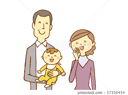 Middle couple and grandson baby 37330454