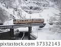 สาย Oito รถดีเซล 2 ข้าม Himekawa ในฤดูหนาว 37332143