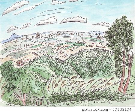 Kanto Hirano distant view from Jinmayama 37335174