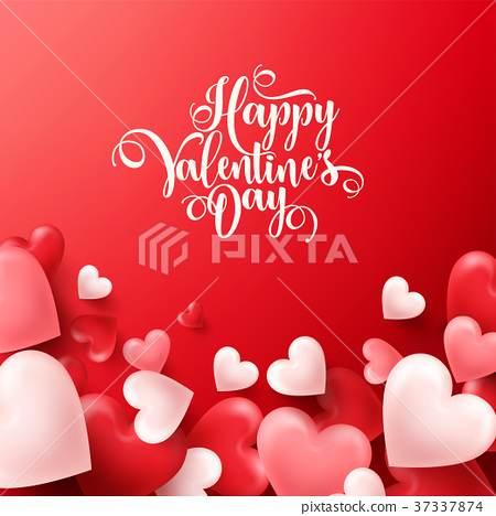 Valentines day abstract background. White, red 37337874