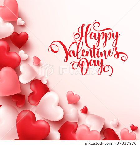 Valentines day abstract background. White, red 37337876