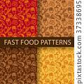 fast food seamless patterns 37338695