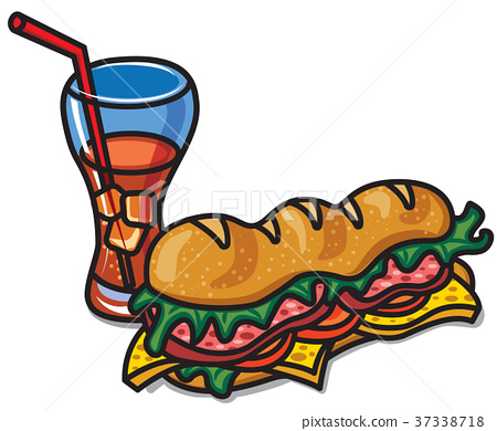sandwich with cola 37338718