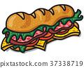 三明治 矢量 矢量图 37338719