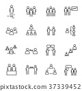 Working people and Organization thin line icon 37339452