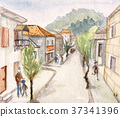 Narrow street of Batumy 37341396