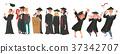 vector flat graduates character scenes set 37342707